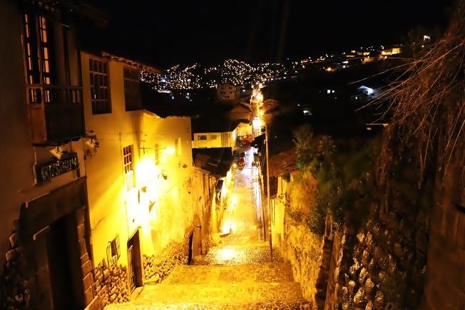 世界遺産 クスコの夜景